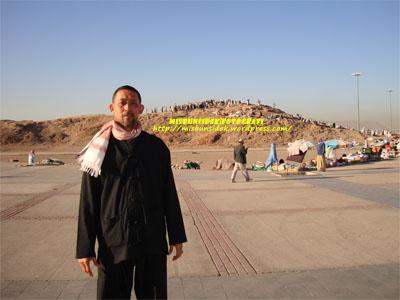 Datuk Misbun di kawasan bukit Uhud, Madinah.